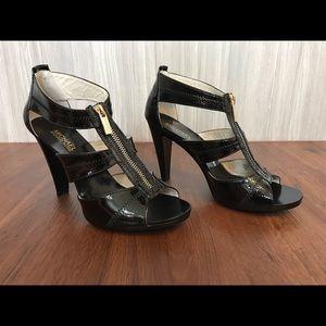 Michael Kors Heeled Sandals Berkley Black Patent 8
